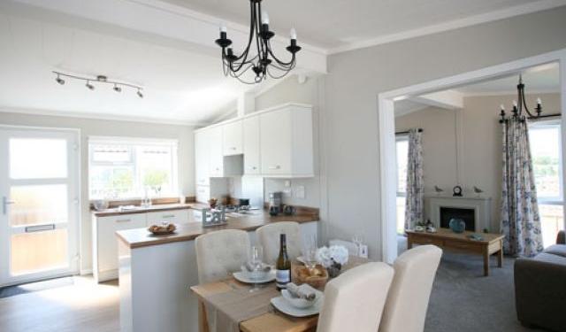 bedwell park home development park home interior kitchen dining