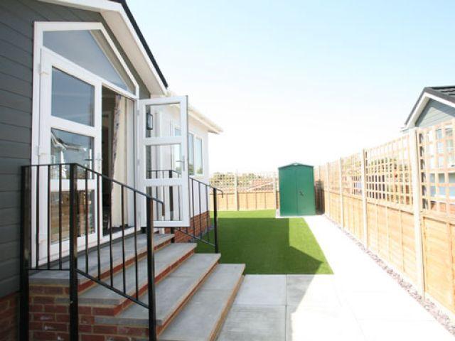 bedwell park home development park home exterior garden