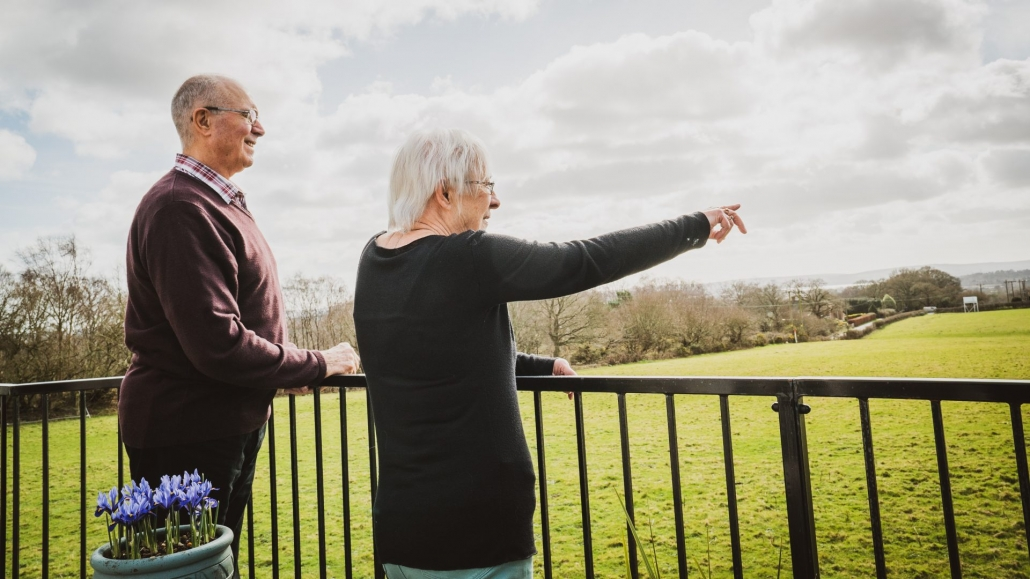 55 year old couple enjoying new lifestyle after park home downsize move