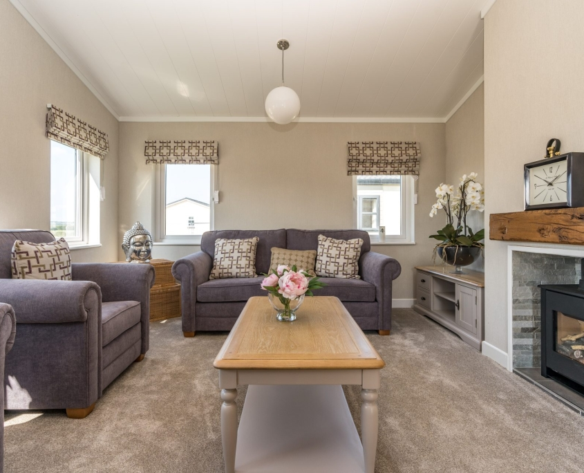 living room of bungalows for sale in bude